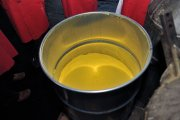 Uranium ore is processed into a concentrate known as yellowcake. (Courtesy: IAEA Imagebank)